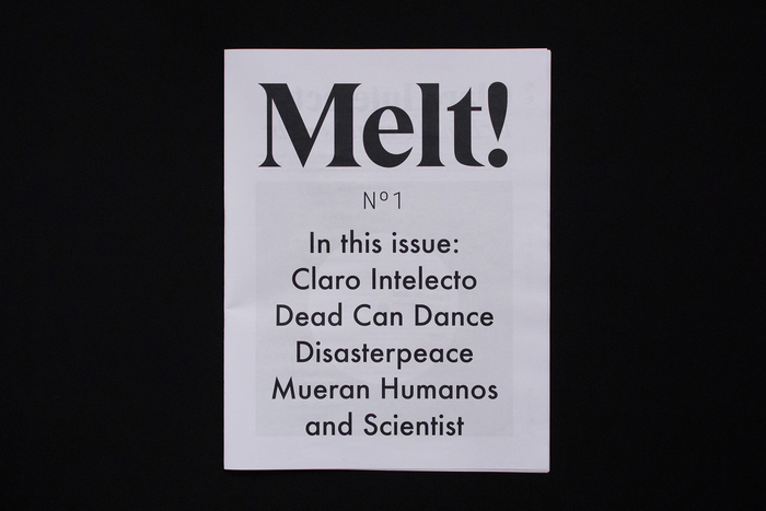 """Melt!"" is set in Eksell Display The Japanese glyphs on the banderole are from SanafonMaru."
