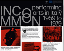 INCOMMON: performing arts in Italy, 1959–1979