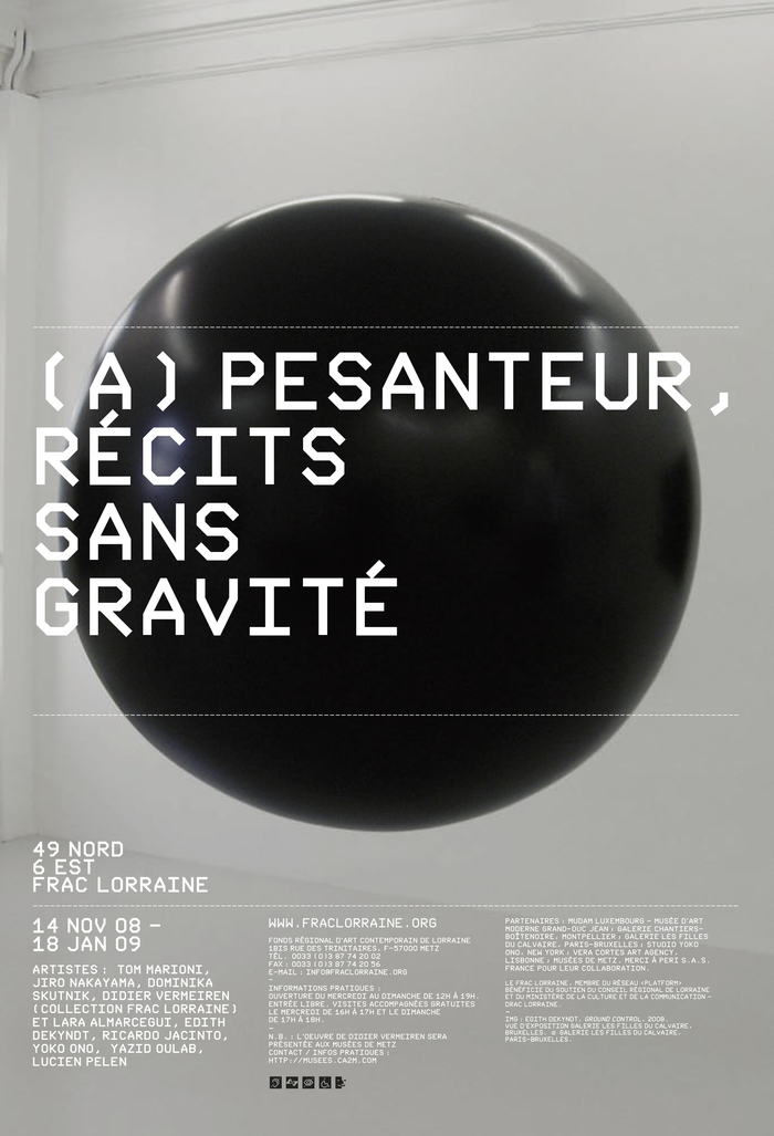 Exhibition poster for FRAC Lorraine in Metz, France. Nik Thoenen, 2008.