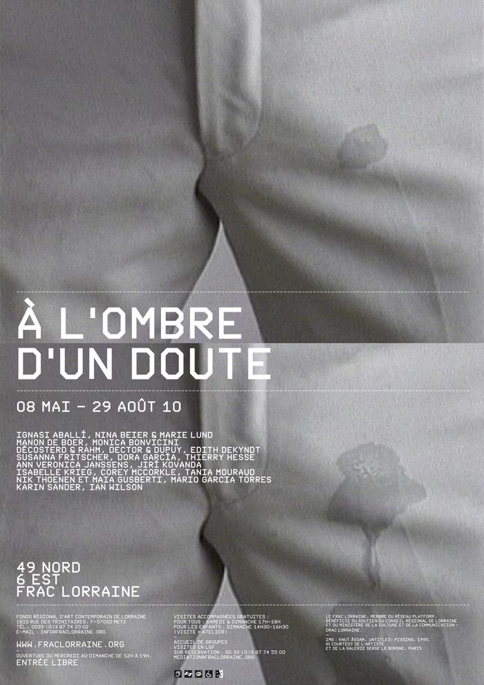Exhibition poster for FRAC Lorraine in Metz, France. Nik Thoenen, 2010.