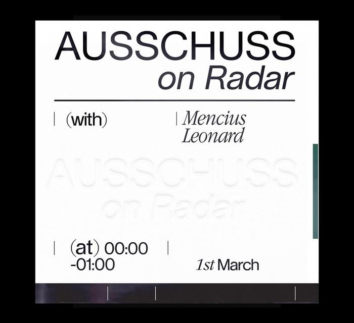 Radar Radio show by DJ Ausschuss 3