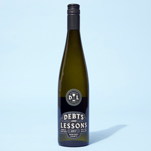 Debts and Lessons wine label