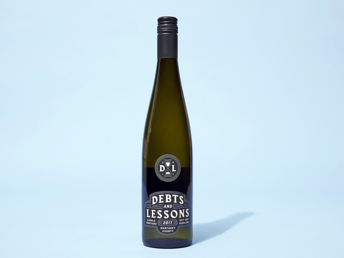 Debts and Lessons wine label 1