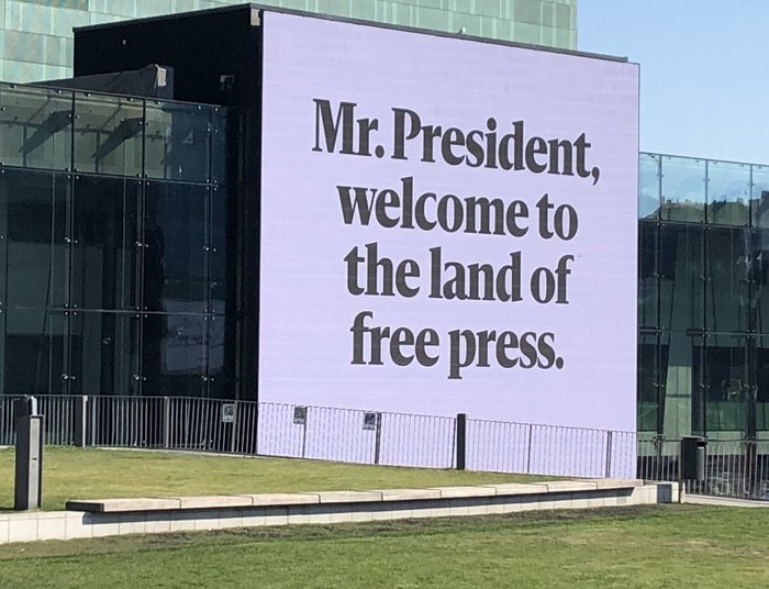 """The Land of Free Press"" – Trump-Putin meeting campaign by Helsingin Sanomat 1"