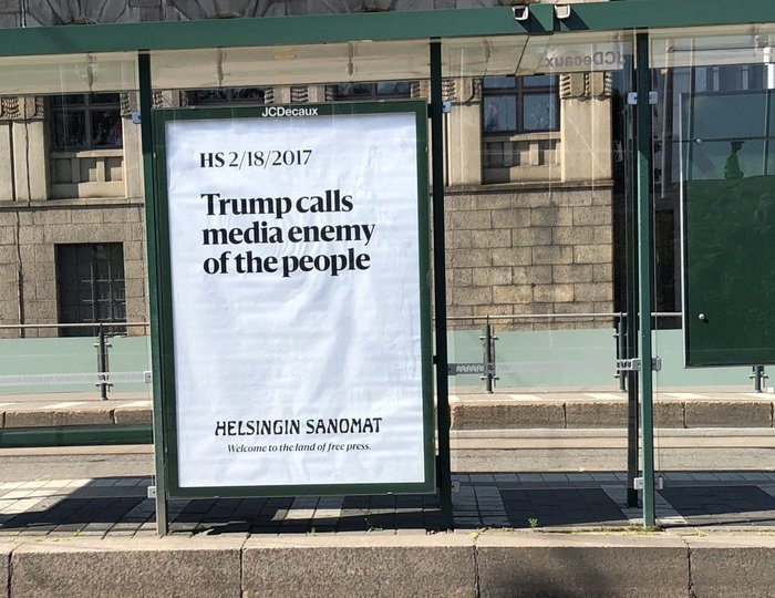 """The Land of Free Press"" – Trump-Putin meeting campaign by Helsingin Sanomat 4"