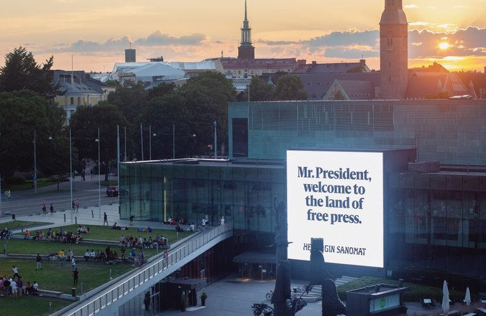 """The Land of Free Press"" – Trump-Putin meeting campaign by Helsingin Sanomat 8"