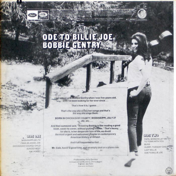 Bobbie Gentry – Ode to Billie Joe album art 2