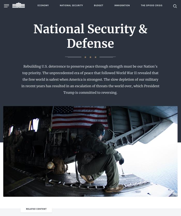 WhiteHouse.gov website (2018) 3