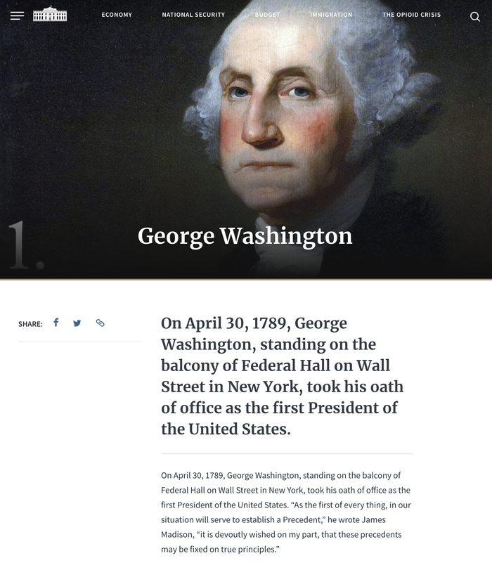 WhiteHouse.gov website (2018) 2