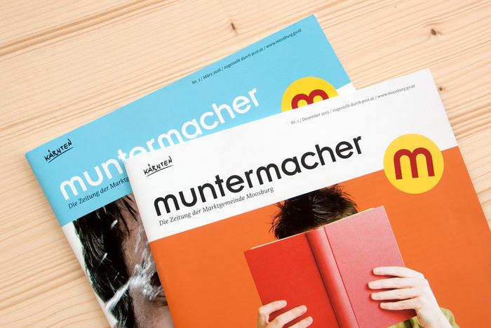 Two covers of the quarterly journal Muntermacher.