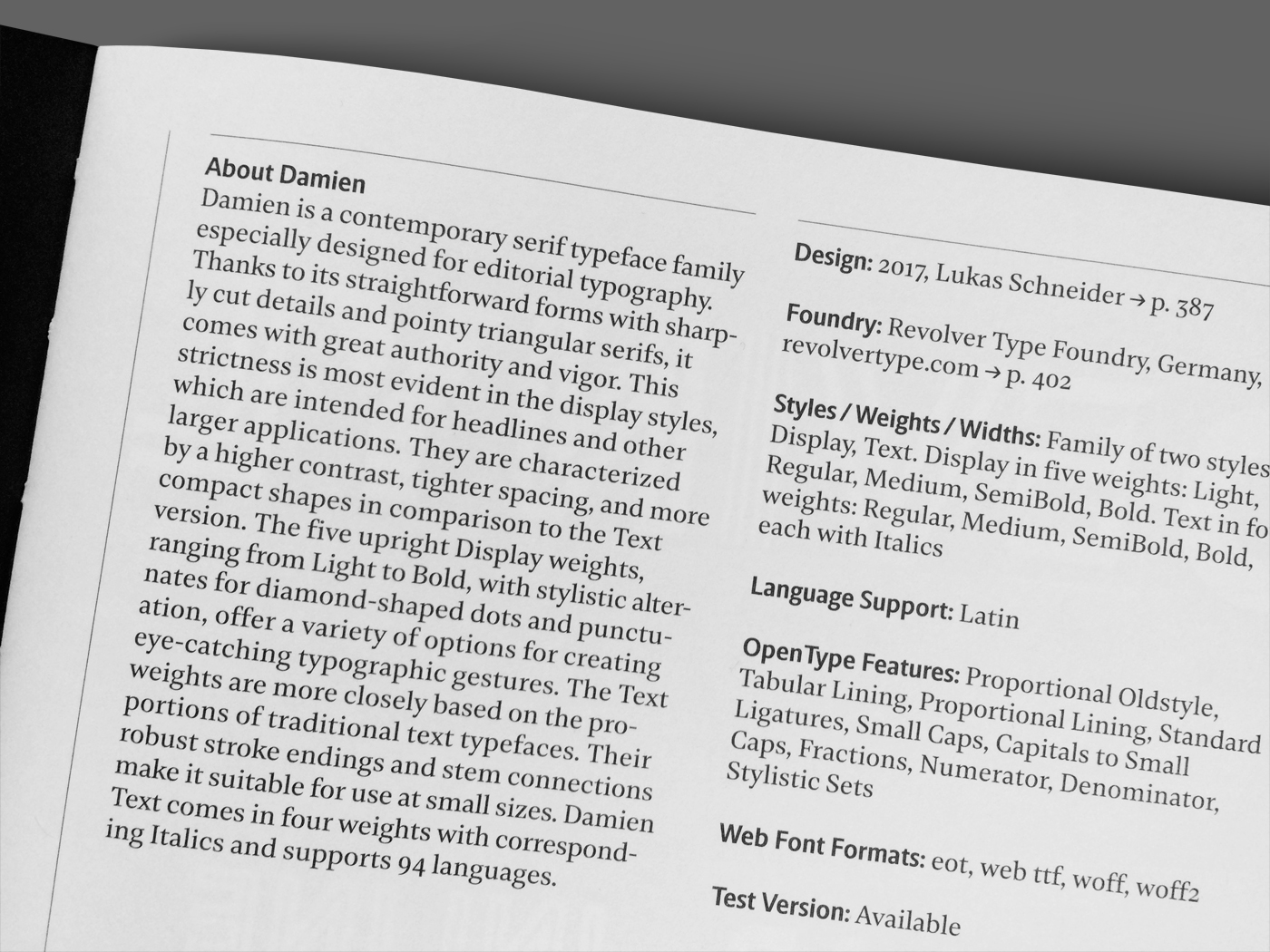 Yearbook of Type 3 - Fonts In Use