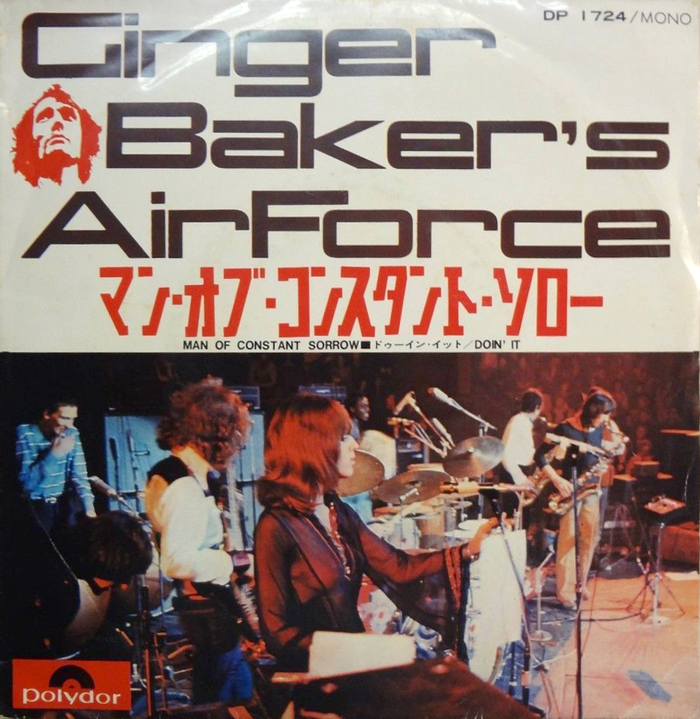 "Ginger Baker's Air Force – ""Man Of Constant Sorrow"" / ""Doin' It"" Japanese single cover"
