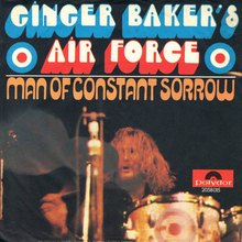 "Ginger Baker's Air Force – ""Man Of Constant Sorrow"" German single cover"