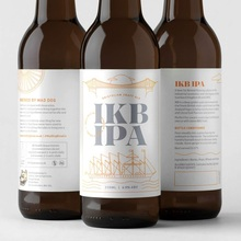 IKB IPA beer by Mad Dog Brew Co.
