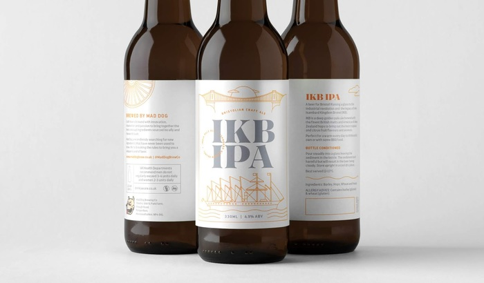 IKB IPA beer by Mad Dog Brew Co. 2