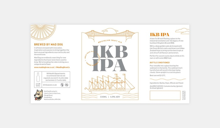 IKB IPA beer by Mad Dog Brew Co. 4