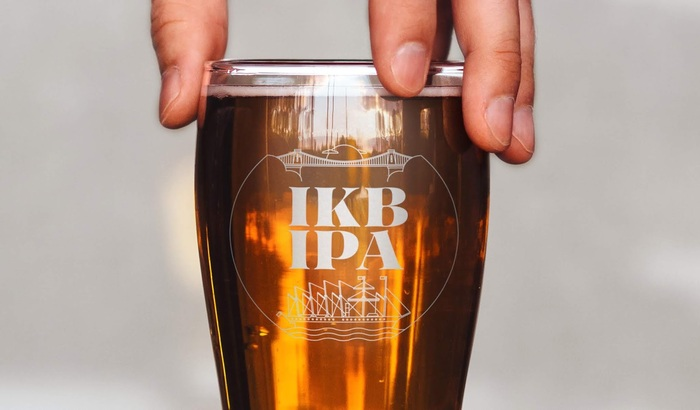 IKB IPA beer by Mad Dog Brew Co. 6