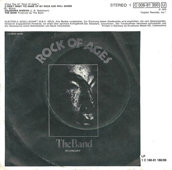 "The Band – ""(I Don't Want To) Hang Up My Rock And Roll Shoes"" 2"