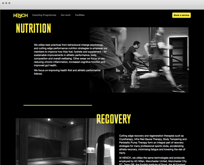Hench identity and website 3