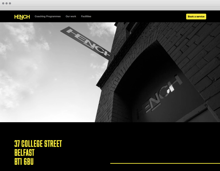 Hench identity and website 4