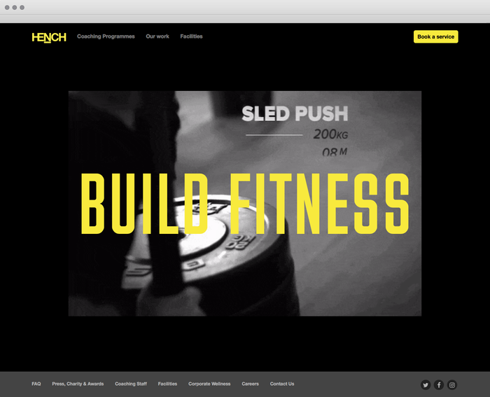 Hench identity and website 2