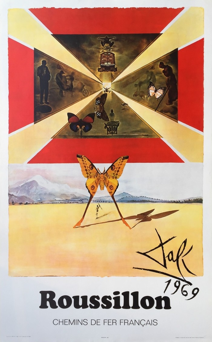 French railway posters by Dalí 3