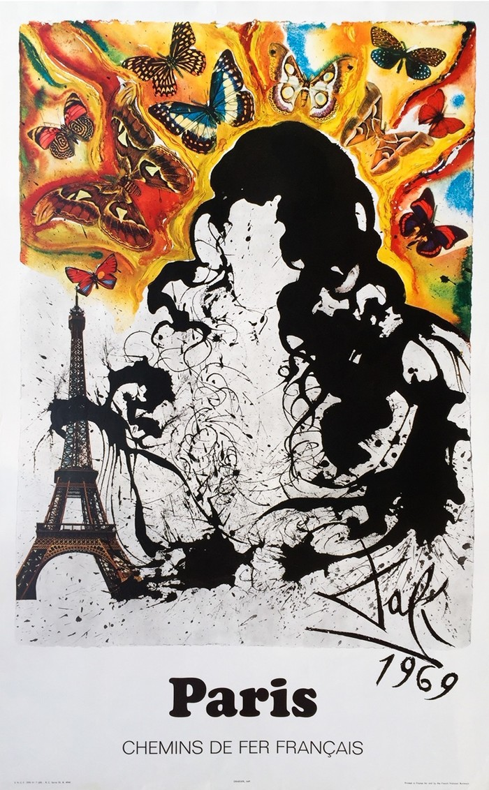 French railway posters by Dalí 4