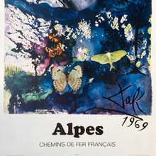 French railway posters by Dalí
