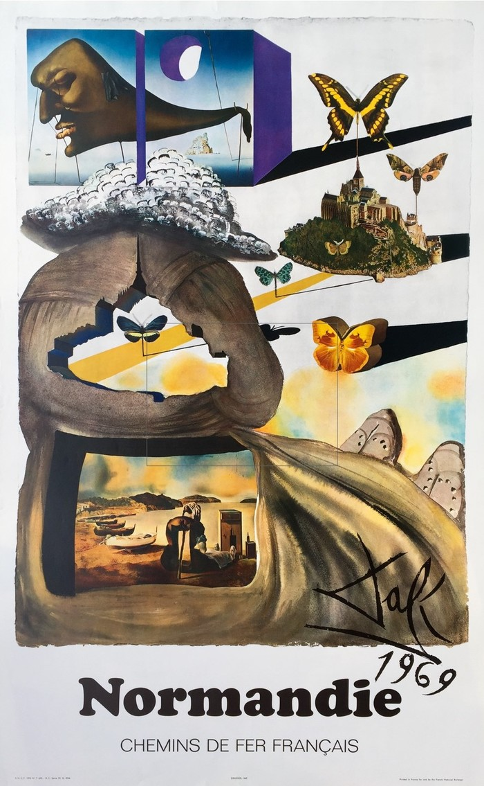 French railway posters by Dalí 6