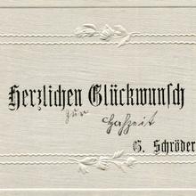 """""""Herzlichen Glückwunsch"""" wedding cards (1919)"""
