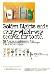 Kent Golden Lights Cigarette ad (1980)