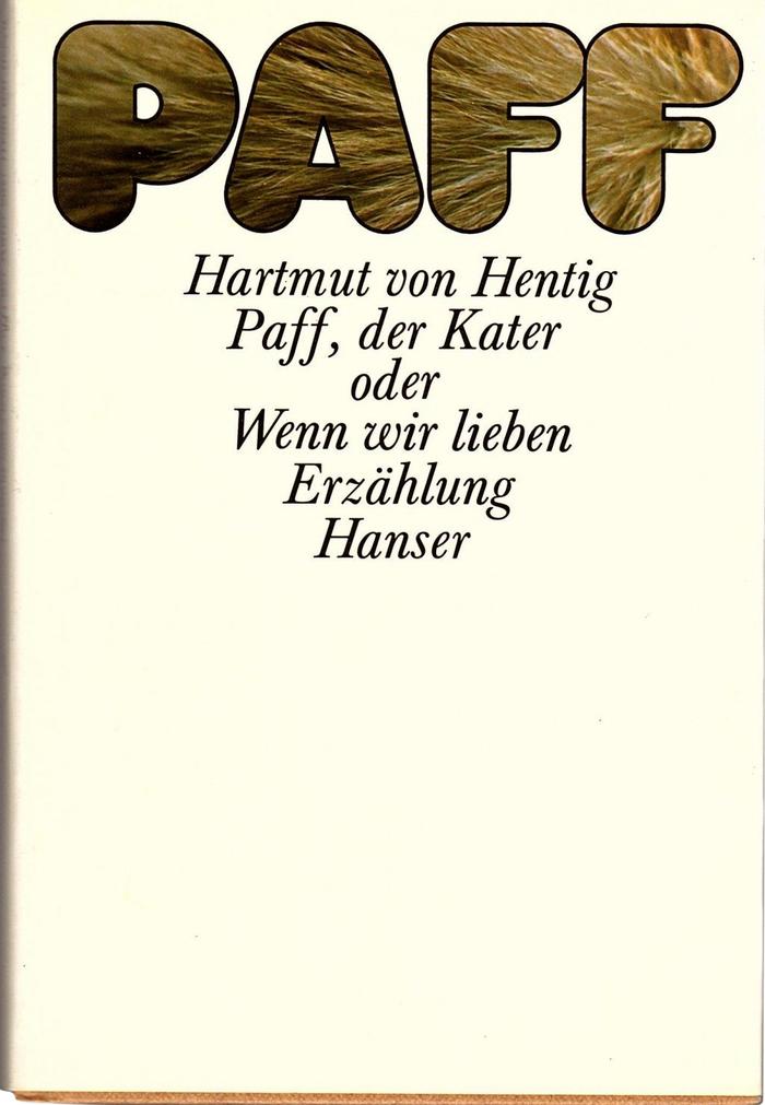 Paff, der Kater by Hartmut von Hentig