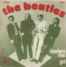 "The Beatles – ""Nowhere Man"" / ""Girl"" French single cover"