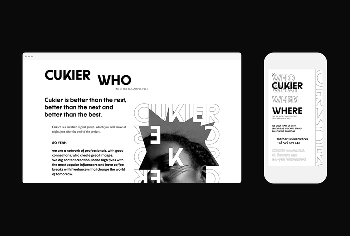 CUKIER ID & Font Design by Mateusz Machalski