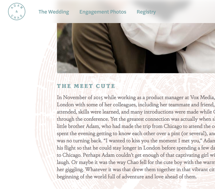 Adam & Chao's wedding website 2