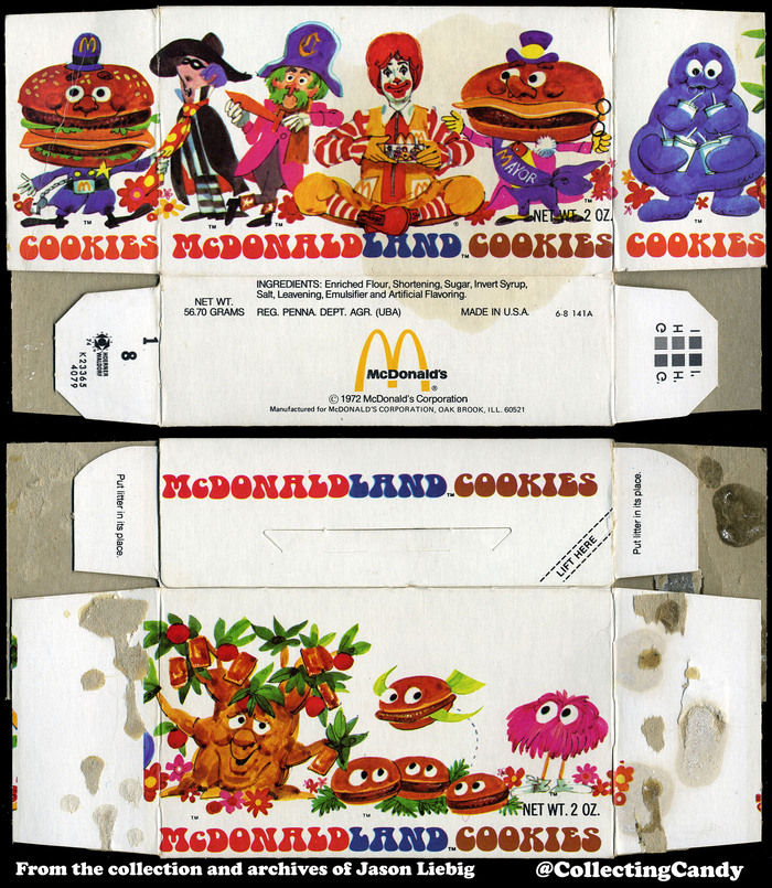 Flattened cookie box, 1972