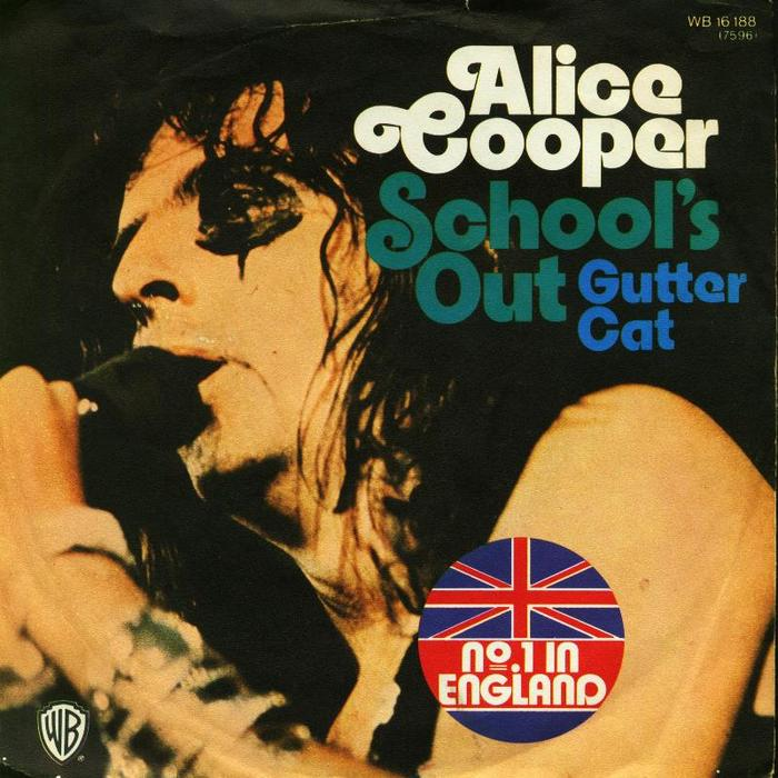 """School's Out"" / ""Gutter Cat"" by Alice Cooper 2"