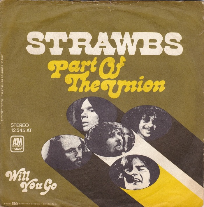 """Strawbs – """"Part Of The Union"""" single cover"""