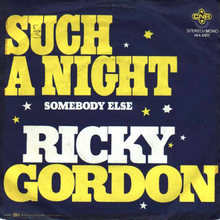 "Ricky Gordon – ""Such A Night"" Dutch single cover"