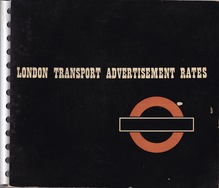 London Transport Advertisment Rates folder (1947)