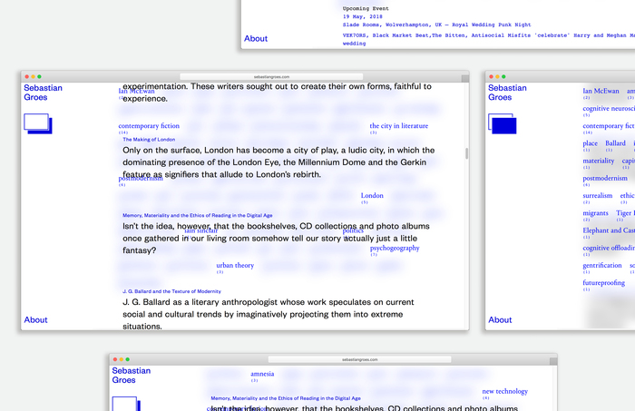 Sebastian Groes website 2