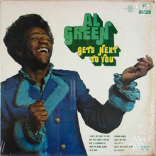 Al Green – <cite>Al Green Gets Next to You</cite> album art