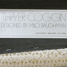 Thayer Coggin, Designed by Milo Baughman label