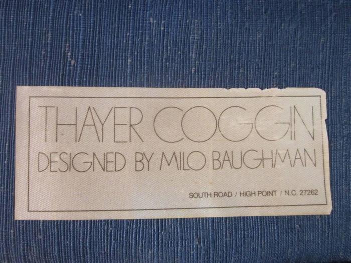 Thayer Coggin, Designed by Milo Baughman label 3