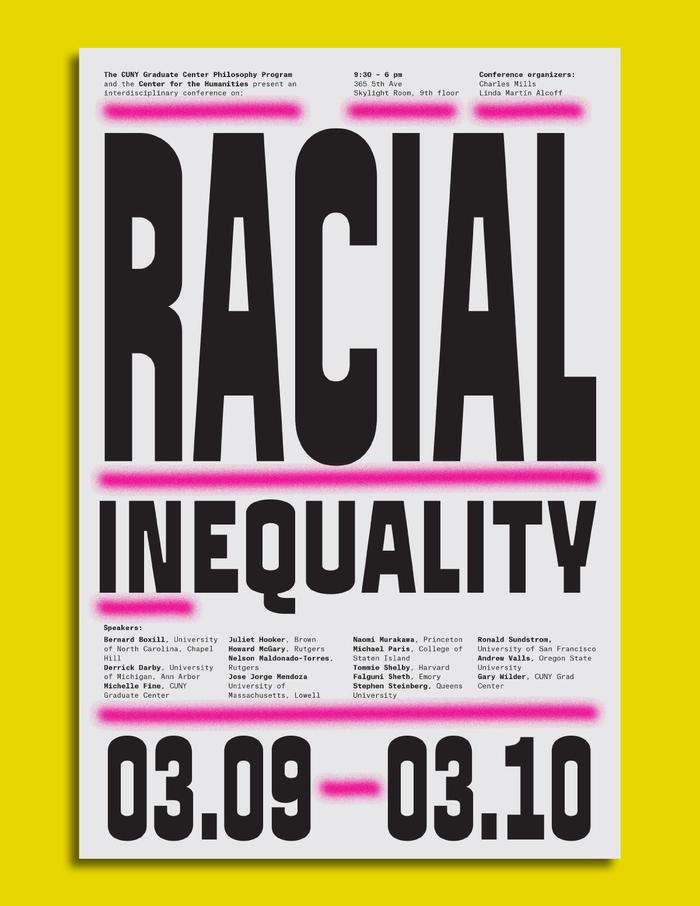 Racial Inequality conference posters 3