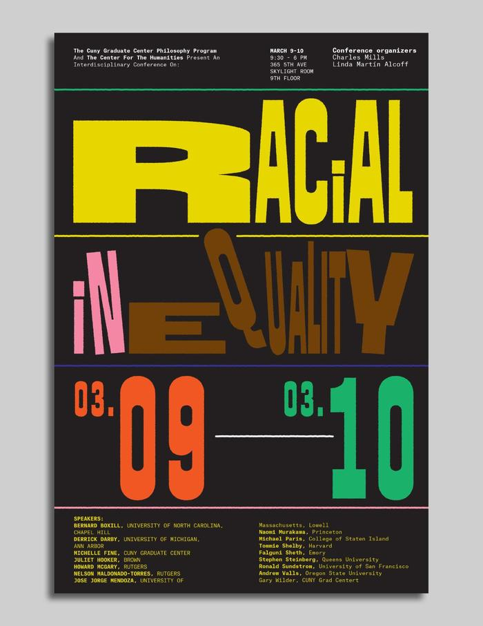 Racial Inequality conference posters 4