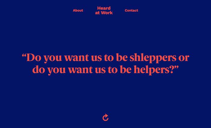 Heard at Work website 3