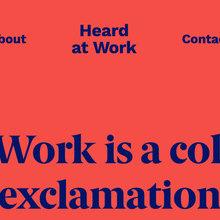 Heard at Work website