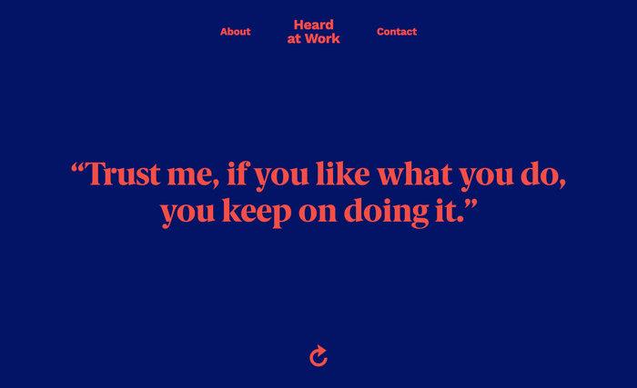 Heard at Work website 6