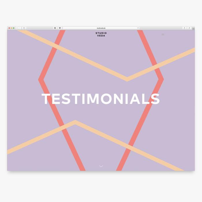 Website: testimonials
